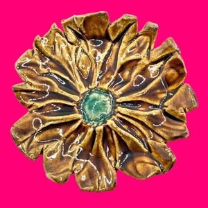 Rare Naomi for Kenneth J. Lane Clay Flower Pendant